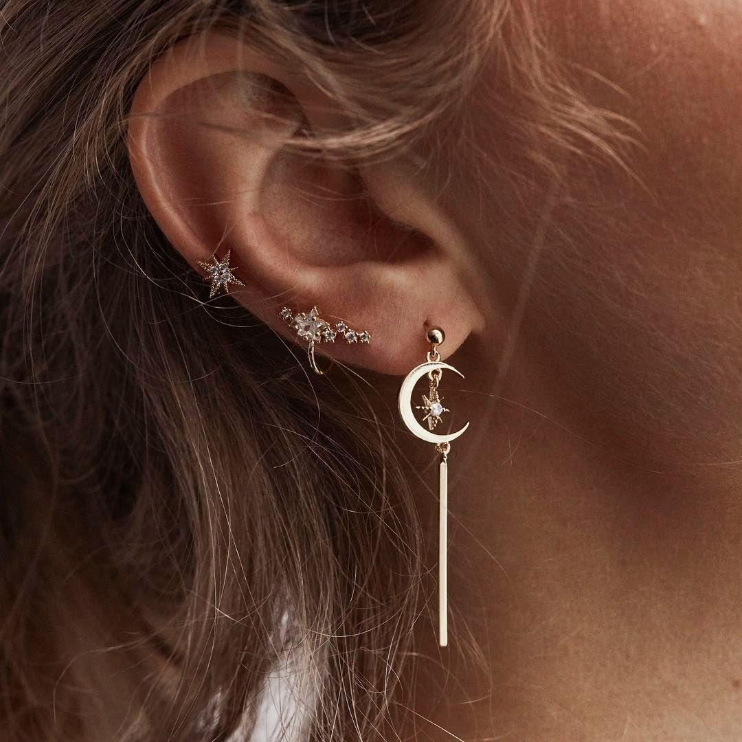 Bohemian Retro Star Moon Earrings Sets  Earrings  Pinterest