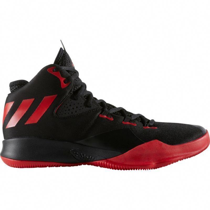 adidas Mens Dual Threat 2017 Basketball Shoes, BlackRed