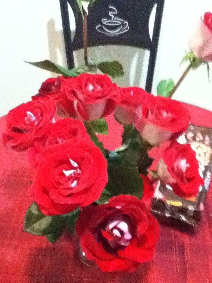 Flores que recibi de mi esposo en mi cumple!!