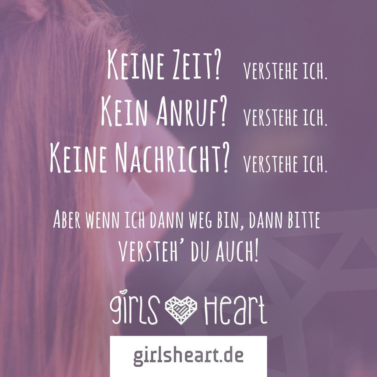 Mehr Sprüche auf: .girlsheart.de #zeit #nachricht #anruf