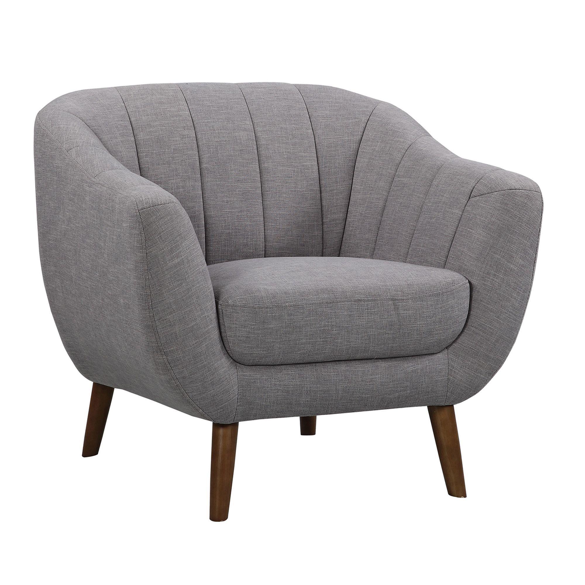 Armen living javeline midcentury contemporary chair in light gray