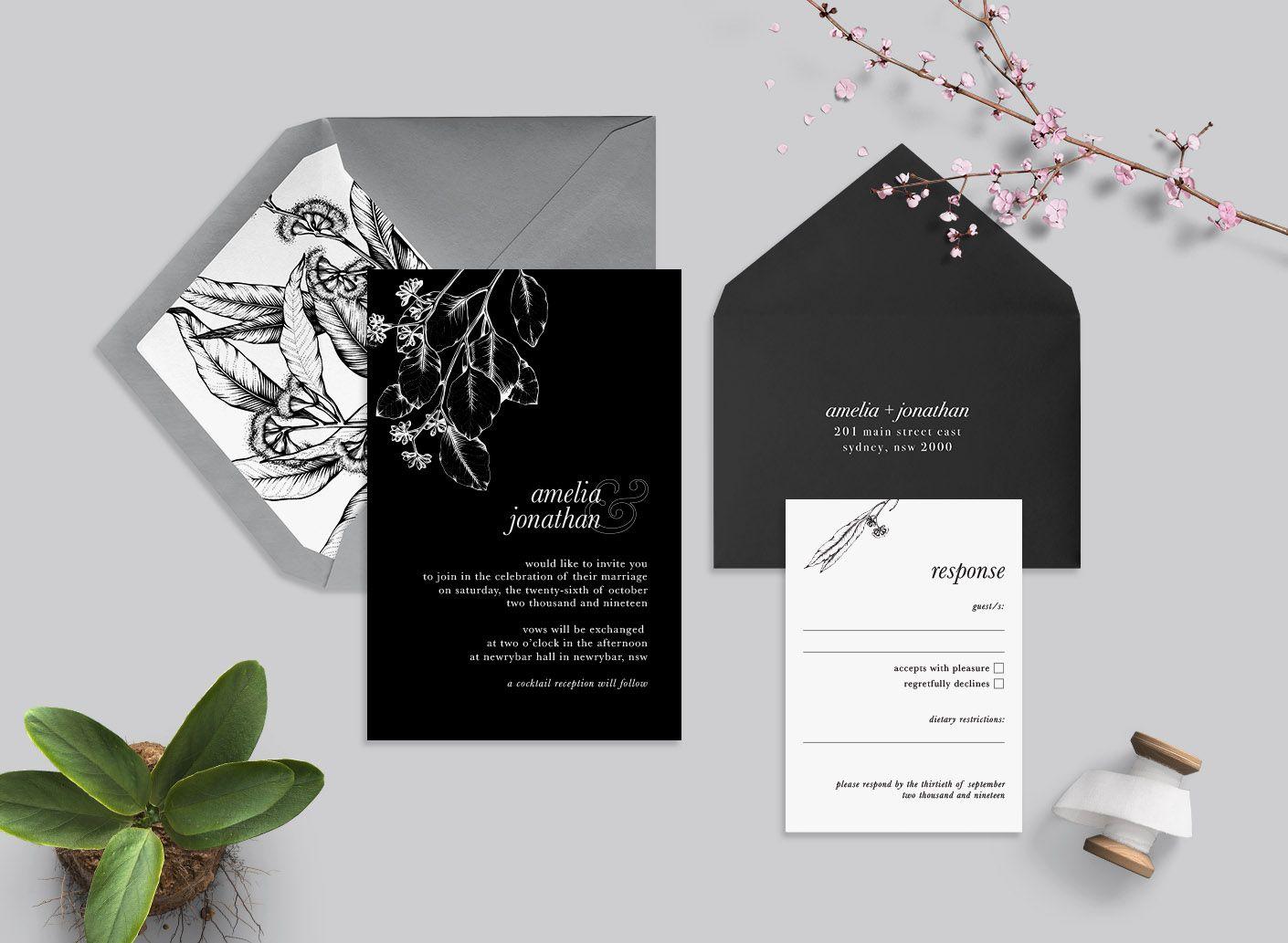 Vintage Eucalyptus Suite More Colours Wedding Invitations Australia Custom Wedding Invitations Wedding Invitations