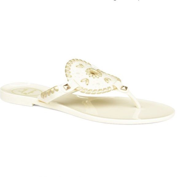 fc4024873c8b NEW Jack Rogers Georgica Jelly Sandals These are brand new and come as  shown. 100% authentic Jack Rogers sandals. Color  cream  gold.