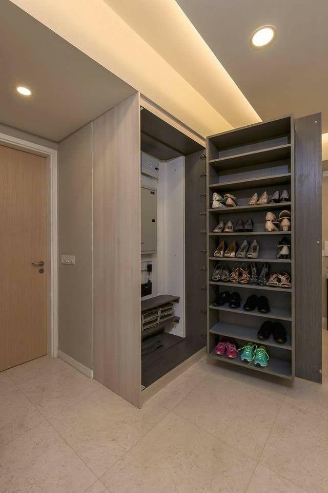 Shoe cabinet over fuse box 3D Department Maison, Mobilier de
