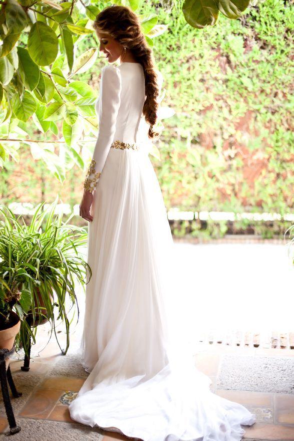 vestido en crepe con falda en gasa de seda natural!!!!! | prewedding
