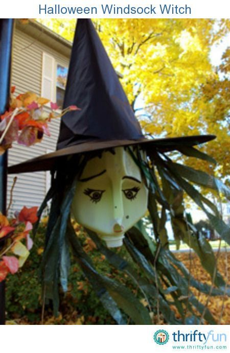 Recycled Witch Windsock Halloween and Fall Pinterest - halloween milk jug decorations