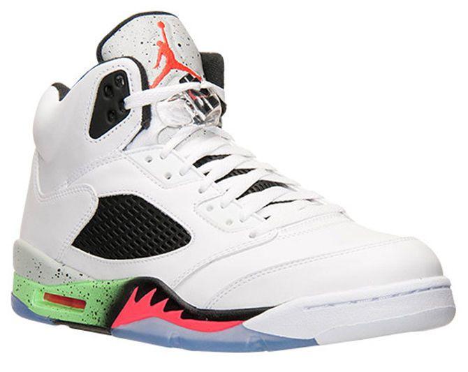 Nike Men s Air Jordan Retro 5 Pro Stars Shoes 136027 115 Poison Green Size  12  Nike  BasketballSneakers 21c9a9f2b
