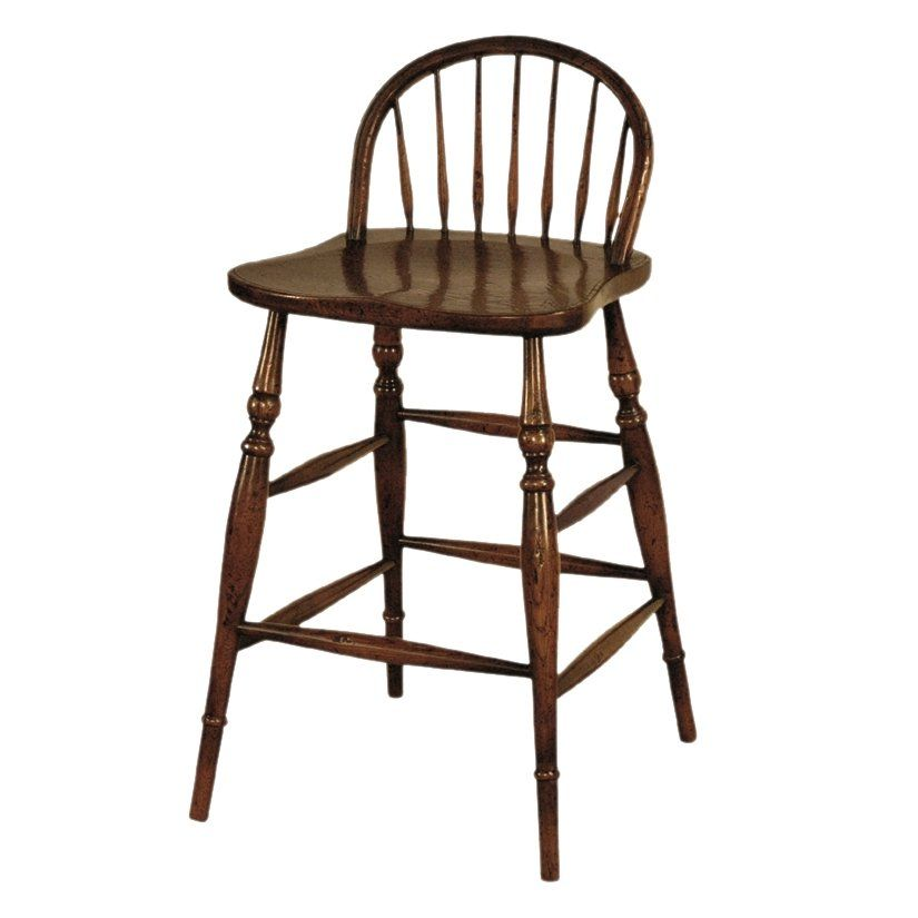 Halo Styles JK128 Windsor Style Counter Bar Stool, Old