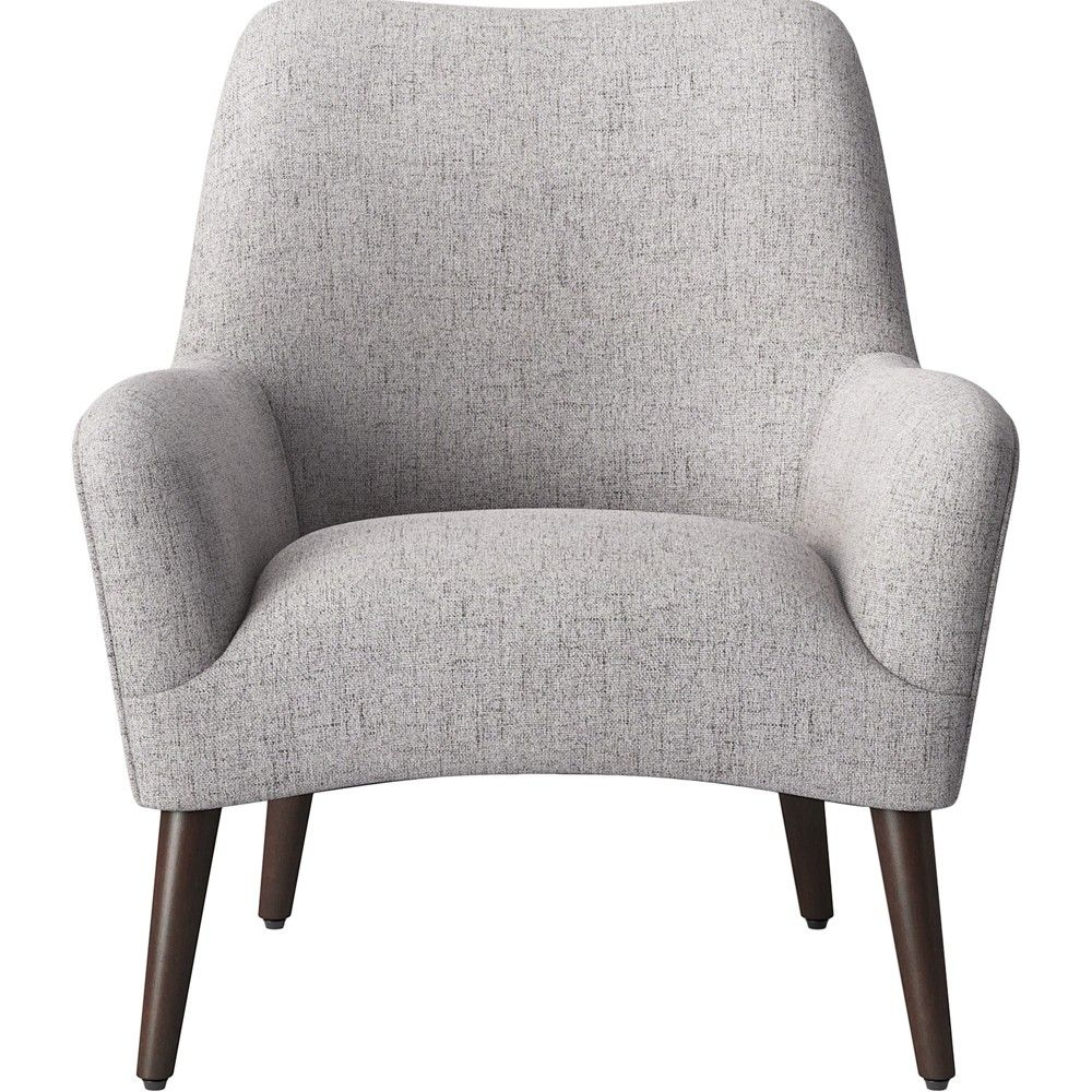 Hixon Shaped Back Accent Chair Light Gray Project 62 Accent