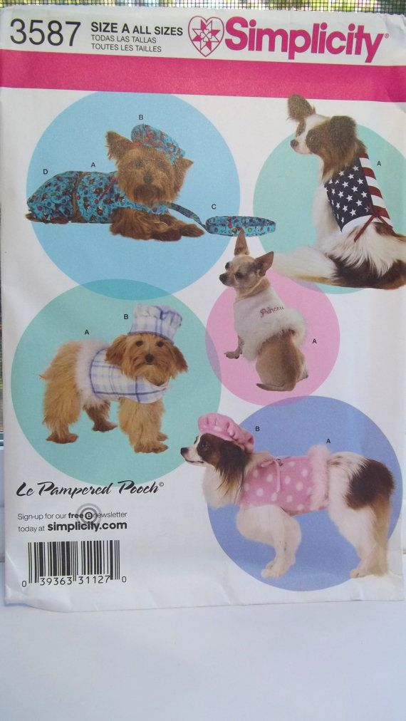 Dog Costume Pattern Simplicity 3587 Sewing Pattern Halloween Dog ...
