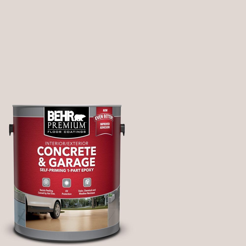 Behr Premium 1 Gal N210 1 Taupe Tease Self Priming 1 Part Epoxy Satin Interior Exterior Concrete And Garage Floor Paint Exterior Paint Behr Paint Primer