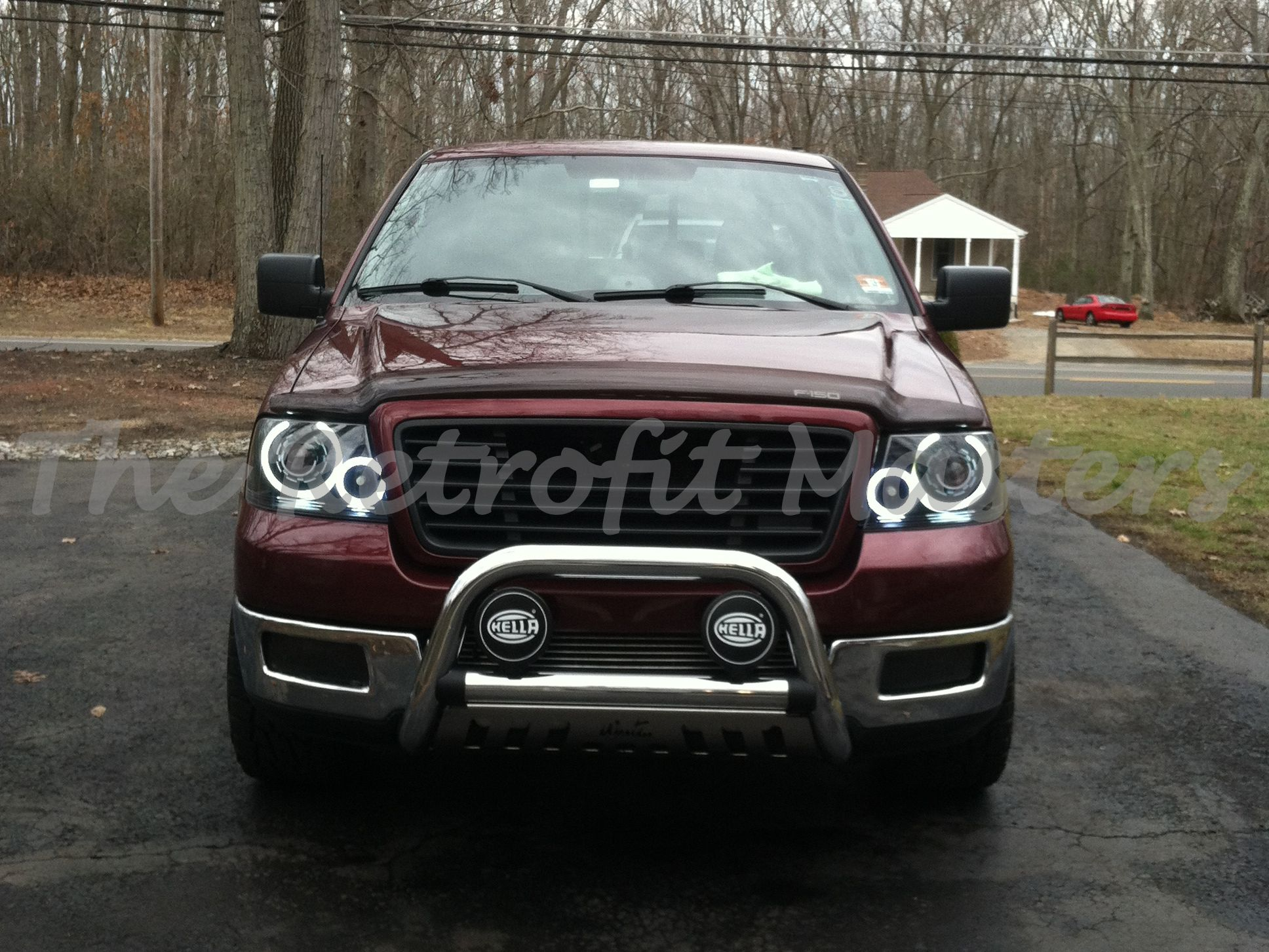 2004 2008 Ford F 150 Headlights Retrofitted W Morimoto Mini H1 Projectors Featuring White Oracle Halos Amber Xb Led Custom Headlights Led Halos Halo