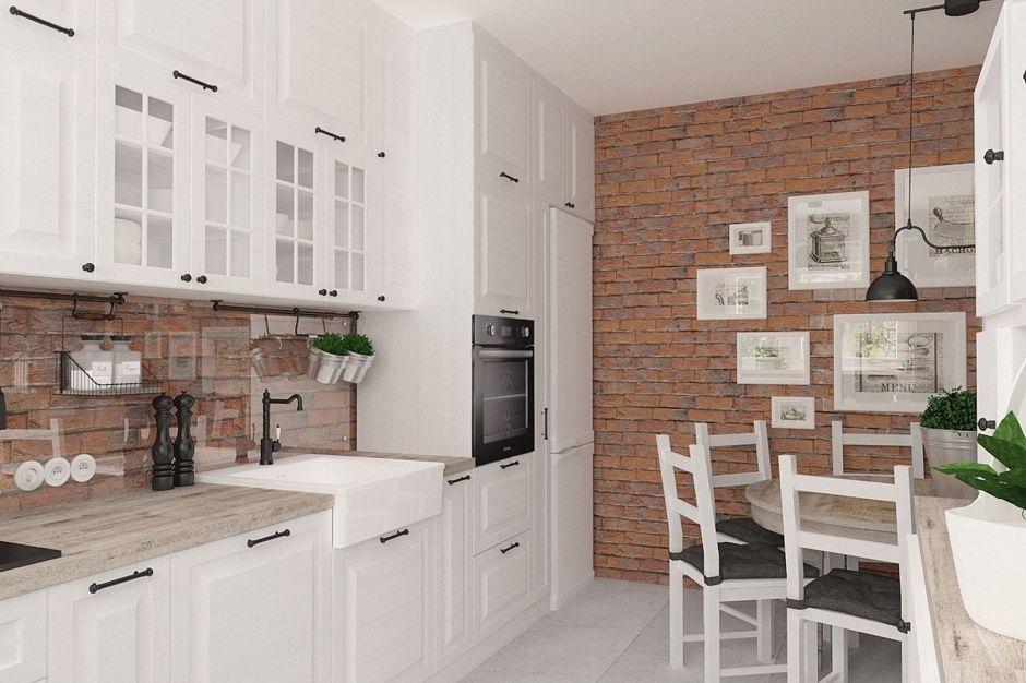 Biala Klasyczna Zabudowa 12 Sposobow Na Cegle W Kuchni Kitchen Interior Home Decor Shelves Kitchen Dinning Room