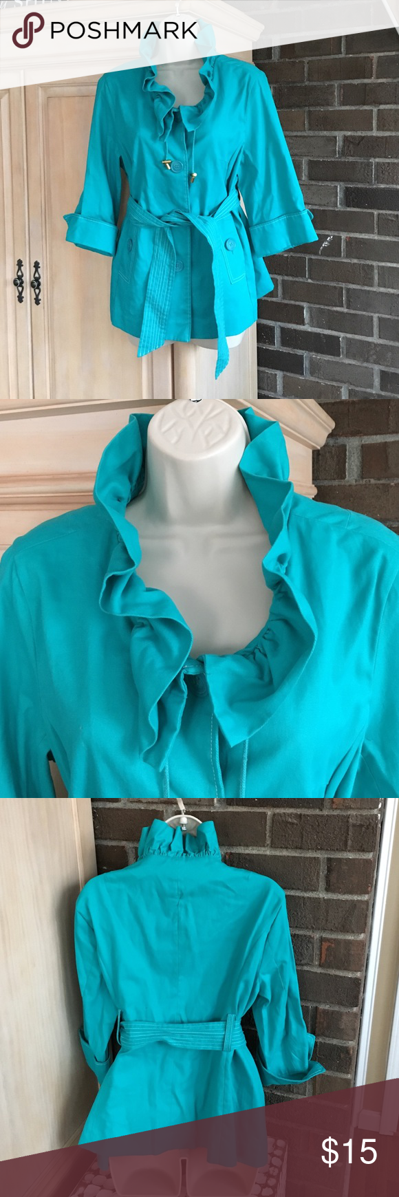 LUII TEAL BLUE COAT SZ M In excellent condition luii Jackets & Coats Blazers