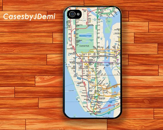New York Manhattan Subway Map iPhone 4 /4S case by