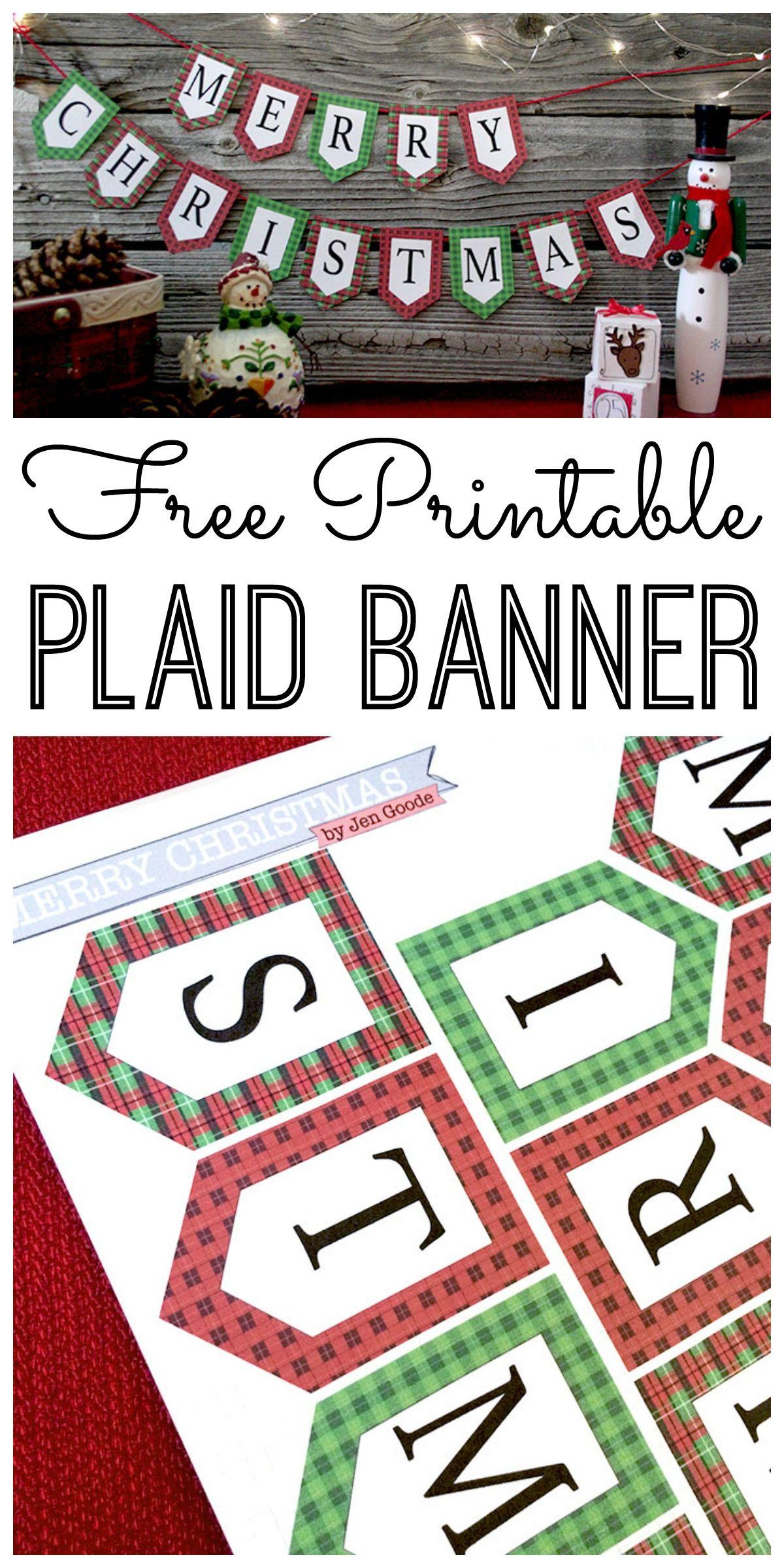 Mini Merry Christmas Banner And Holiday Printables Blog