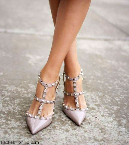 Schuhe wie valentino rockstud