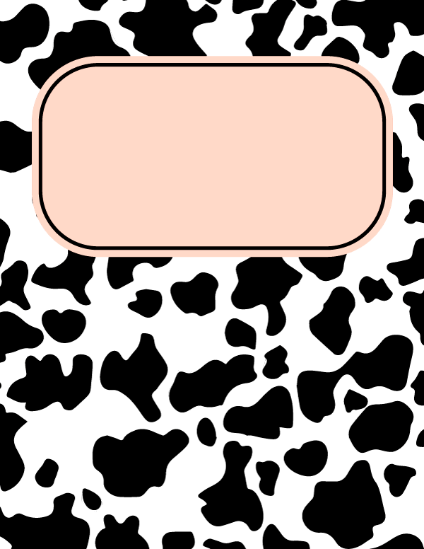 Free Printable Cow Print Binder Cover Template Download The Cover In Jpg Or Pdf Format At Http Binde Binder Cover Templates Book Cover Art Diy Binder Covers