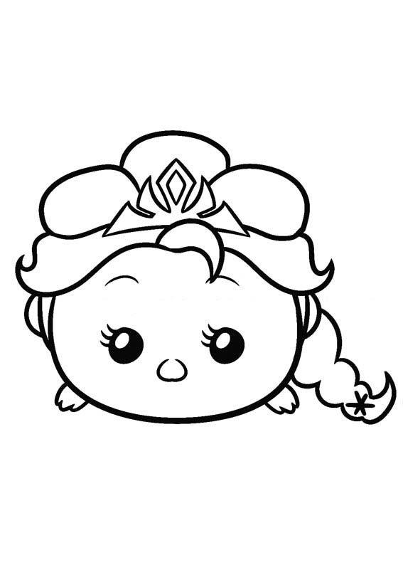 disney tsum tsum para colorear elsa frozen | Dibujo | Pinterest ...