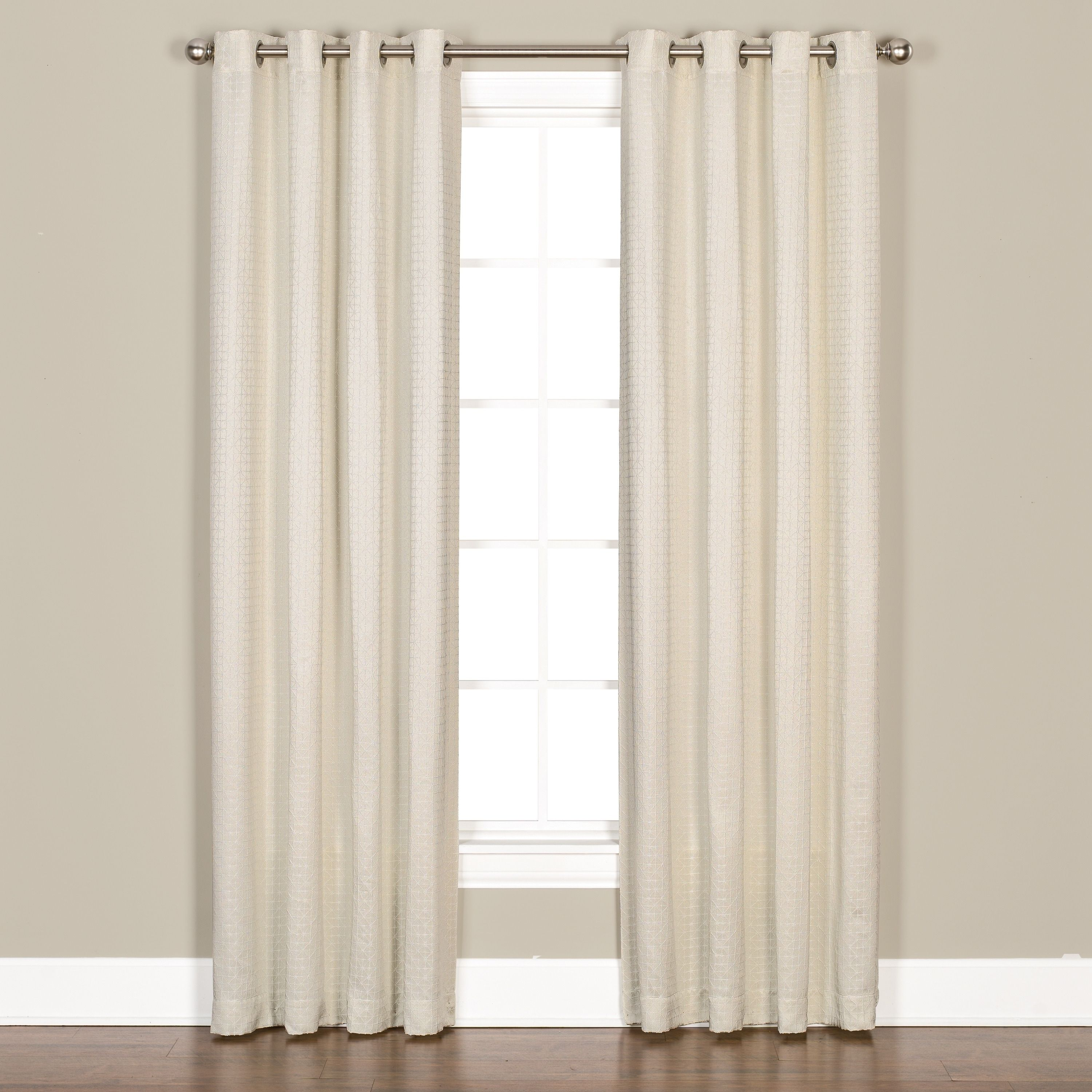 Skl Home Sarah 63 Inch Panel Pair Extra Wide White Polyester Solid Curtains Panel Curtains Window Curtains