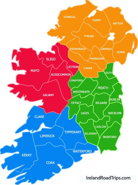 Ireland Counties Irland Karte Irland Reise Irland