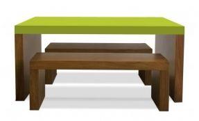 Modern kidsu0027 table and bench set - gorgeous color options  sc 1 st  Pinterest & Modern kidsu0027 table and bench set - gorgeous color options | CANTINHO ...