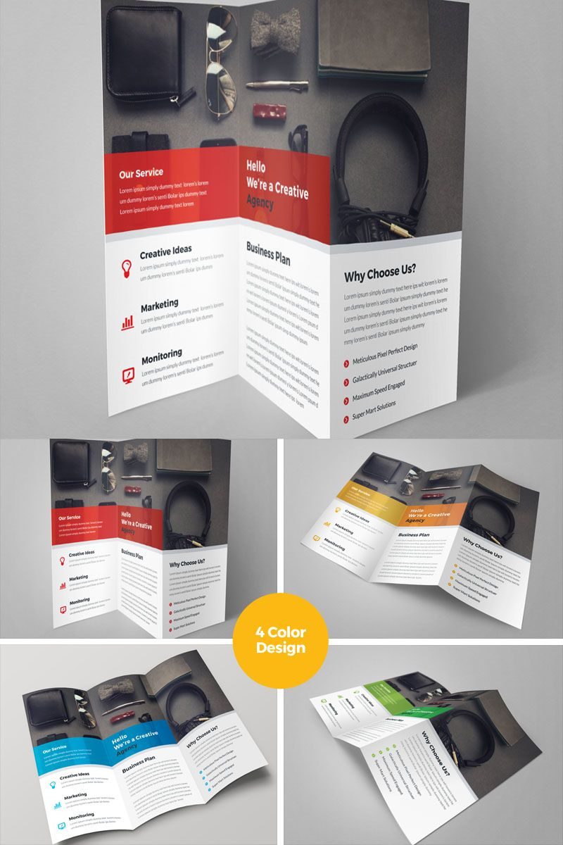 Case Study Corporate Trifold Brochure Corporate Identity Template