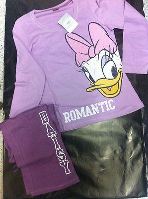Pijama mujer DAISY PATO DONALD 100% Algodón  EN BOLSA ÚLTIMA UNIDAD PRECIO IRRESISTIBLE!!!    Licencia oficial.  Talla disponible:   L