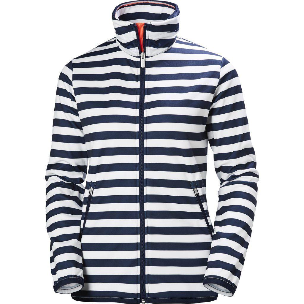 Evening Blue Stripe Helly Hansen Womens Naiad Fleece Jacket Large