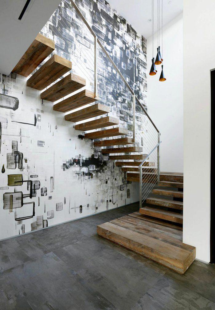 Einrichtungsideen Beleuchtung Treppenhaus Wandgestaltung Treppenhaus