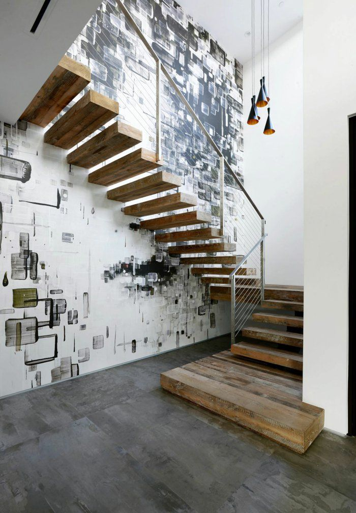 Lieblich Einrichtungsideen Beleuchtung Treppenhaus Wandgestaltung Treppenhaus