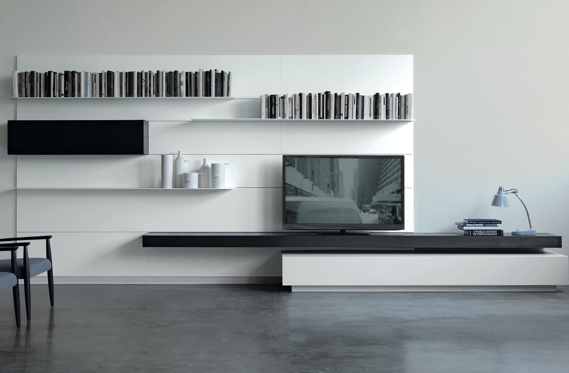 Meuble T L Un L Ment Indispensable Dans Le Salon Modern Tv  # Le Corner Meuble Tv Blanc Led Hi Fi Integre