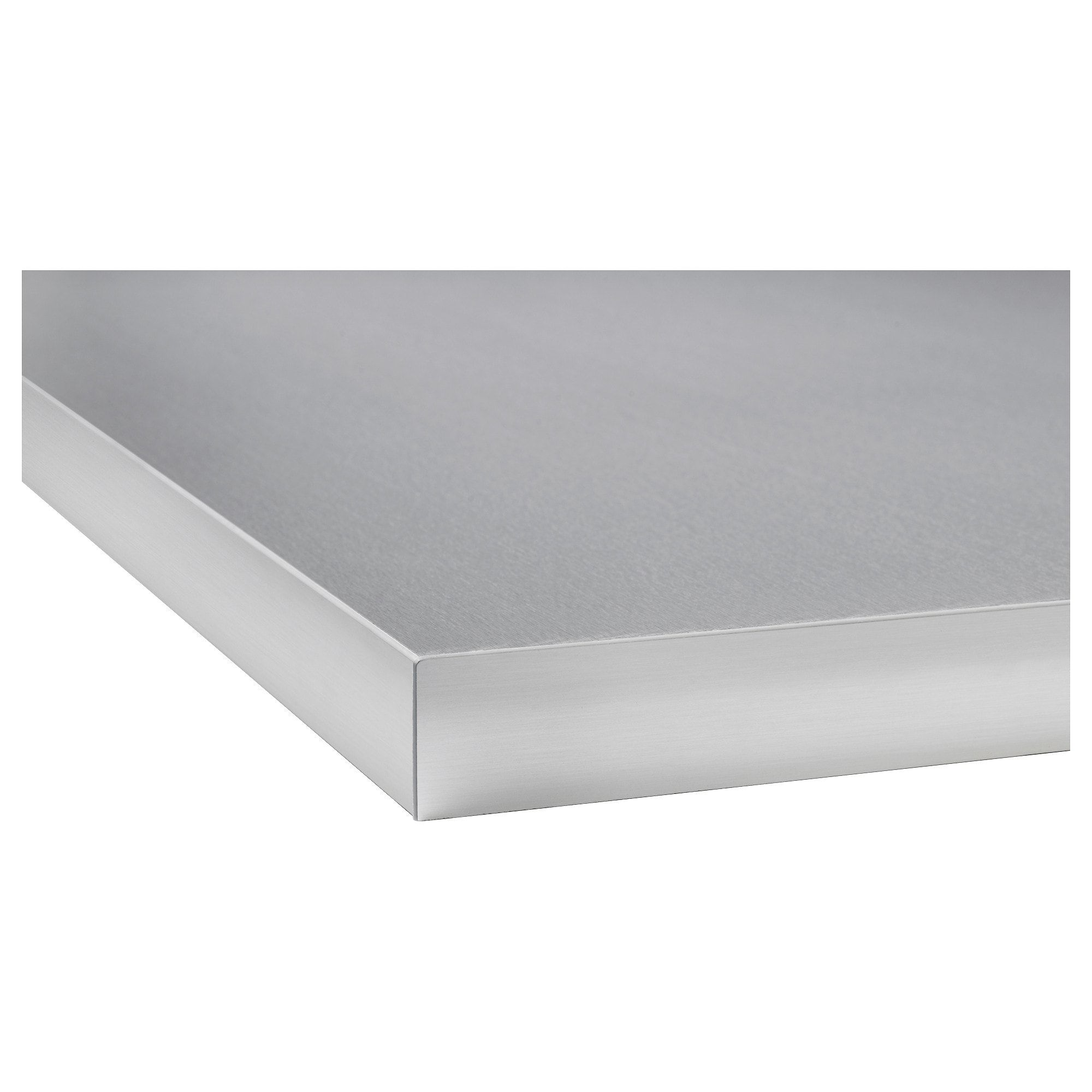 Hallestad Countertop Double Sided White Aluminum Effect Aluminum Effect Metal Effect Edge Laminate With Metal Effect Edge 98x1 1 2 Ikea Metal Countertops Kitchen Metal Countertops Countertops