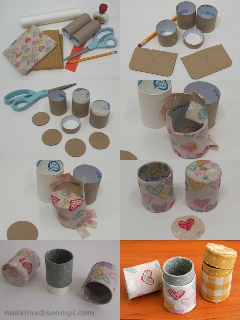 DIY from toilet paper roll to box