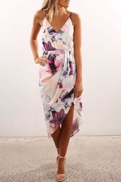 Floral Print Midi Dress - Floral Dresses and Celebrity Inspired Fashion
