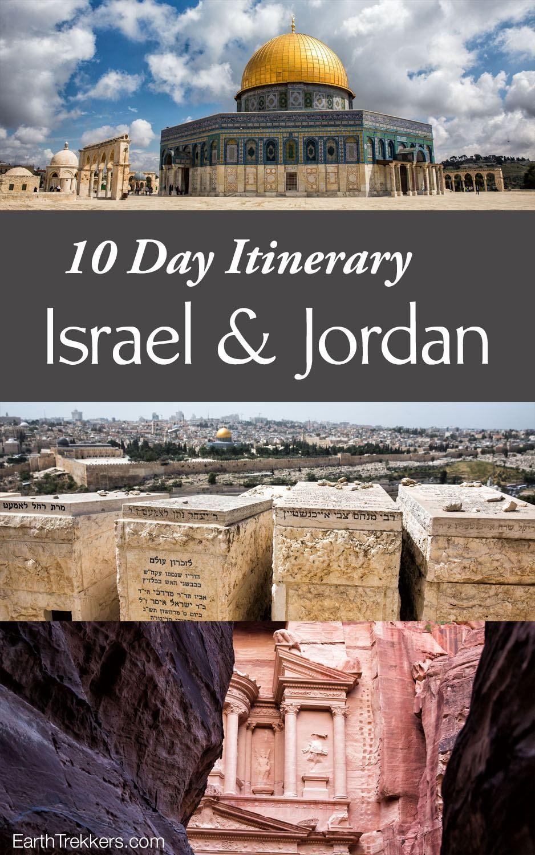 10 Day Israel And Jordan Itinerary Jerusalem Tel Aviv Masada Dead Sea Petra And Wadi Rum Israel Jordan Jerusalem Israel Travel Wadi Rum Jordan Travel