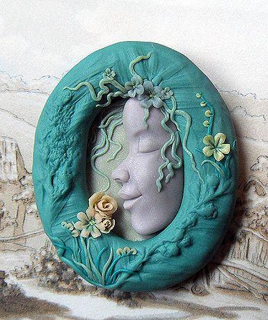 Handmade polymer pendant my polymer art pinterest fimo handmade polymer pendant aloadofball Image collections