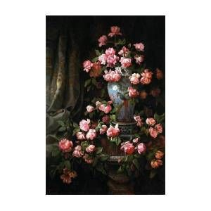 Roses Flowers beautiful Art Art Print by Arty Fame