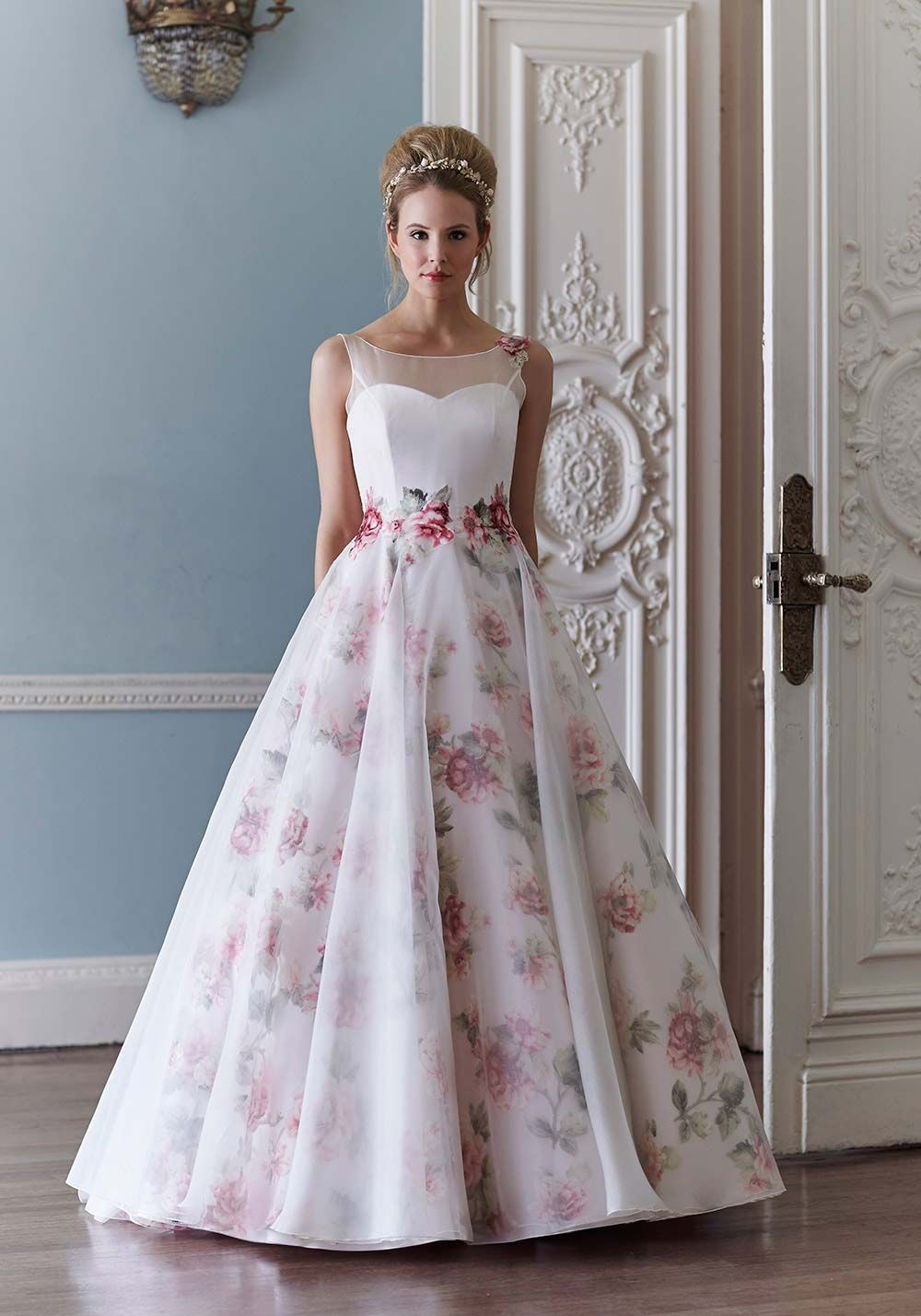 Floral wedding dress from Sassi Holford
