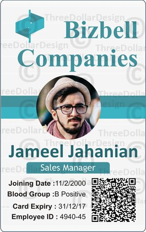 employee badge template 100 employee card template card
