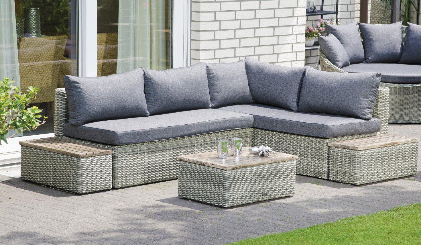 Garten Eckcouch Mit Polsterkissen Lounge Mobel Sitzgruppe Lounge Garnitur