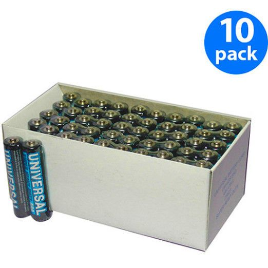 Aaa 500 Batteries 10 Packs Of 50 Pcs Super Heavy Duty Value Box Universal Upg Aaa Batteries Cool Things To Buy Heavy Duty