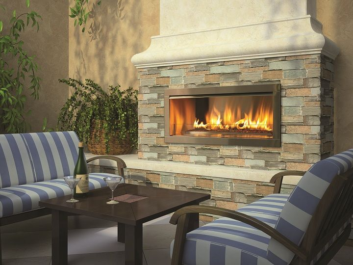 OD 42 Gas Fireplace, Sold As An Insert Or Fully Finished Product!