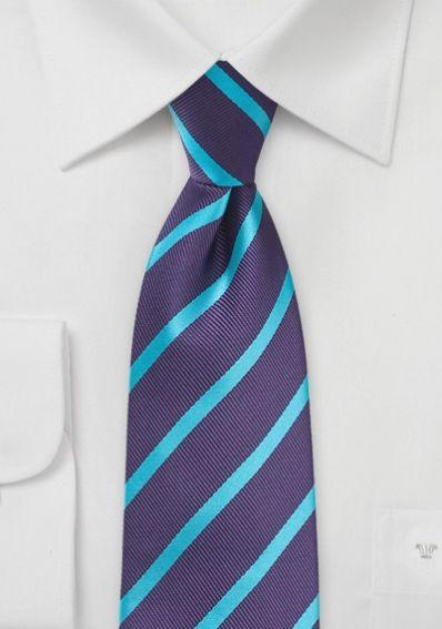 Businesskrawatte Streifendesign purpur mint