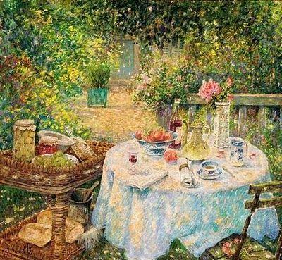 Tea Party Paintings by Jos Pauwels Belgian Artist