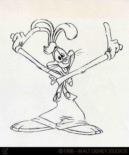 Living Lines Library Who Framed Roger Rabbit 1988 Character Design Roger Rabbit Character Design Rabbit Artwork