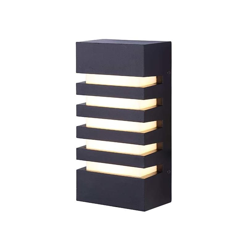 """Canarm LOL271 Fidgy Light 4-3/4"""" Wide Integrated LED Outdoor Wall Sconce Black Outdoor Lighting Wall Sconces"""