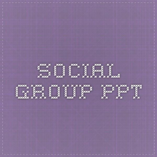 social group ppt