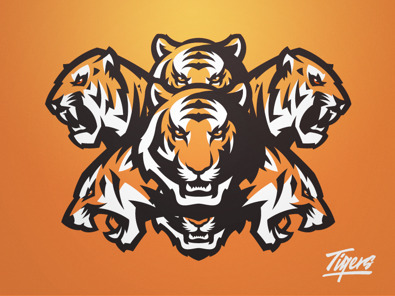 All The Tigers Animal Logo Sports Logo Design Sports Logo Inspiration