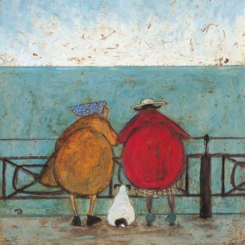 "Sam Toft /""remembering When We First Met/"" Canvas Print Multi-colour 60 x 80cm"